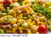 Fresh Corn Succotash , Edgewater, MD. Стоковое фото, фотограф Edwin Remsberg / age Fotostock / Фотобанк Лори