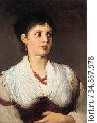 Max Gabriel Cornelis Ritter Von - a Portrait of a Woman in Native... Редакционное фото, фотограф Artepics / age Fotostock / Фотобанк Лори