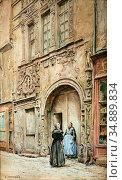 Monziès Louis - Grand' Rue - La Maison Dite D 'adam Et Eve - French... Редакционное фото, фотограф Artepics / age Fotostock / Фотобанк Лори