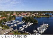 Askersund Marina. Örebro County. Sweden. Стоковое фото, фотограф Andre Maslennikov / age Fotostock / Фотобанк Лори