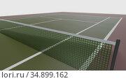 3d illustration of tennis field, cort for sport. Стоковая иллюстрация, иллюстратор Евгений Забугин / Фотобанк Лори