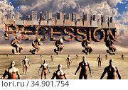 UIG-71096_RF_32_RECESSSION_200A5H. Стоковое фото, фотограф UNIVERSAL IMAGES GROUP / age Fotostock / Фотобанк Лори