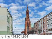 Holy Trinity parish church was built in 1320. The Chuch is located... Стоковое фото, фотограф Gunter Kirsch / age Fotostock / Фотобанк Лори
