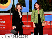 1Maria Pia Ammirati, Annalisa De Simone on the Red carpet of cartoon... Редакционное фото, фотограф Maria Laura Antonelli / AGF/Maria Laura Antonelli / age Fotostock / Фотобанк Лори