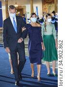 King Felipe VI of Spain, Queen Letizia of Spain attends Ceremony ... Редакционное фото, фотограф Manuel Cedron / age Fotostock / Фотобанк Лори