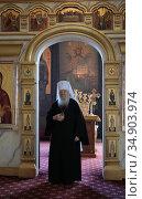 Митрополит Ювеналий в Зарайском кремле. Редакционное фото, фотограф Дмитрий Неумоин / Фотобанк Лори