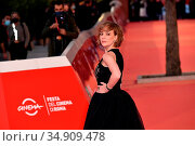 Sara Lazzaro attends the red carpet of the movie 'Fortuna' during... Редакционное фото, фотограф AGF/Maria Laura Antonelli / age Fotostock / Фотобанк Лори