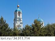 Купола церкви пророка Илии в городе Саки, Крым. Стоковое фото, фотограф Николай Мухорин / Фотобанк Лори