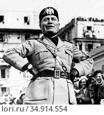 Benito Amilcare Andrea Mussolini (29 July 1883 – 28 April 1945) was... (2016 год). Редакционное фото, фотограф Pictures From History / age Fotostock / Фотобанк Лори