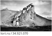 Kampa Dzong, also called Gamba, Kampa, or Khampa Dzong, is a Tibetan... (2015 год). Редакционное фото, фотограф Pictures From History / age Fotostock / Фотобанк Лори