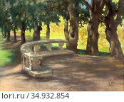Stabrowski Kazimierz - Oak Alley in the Park at the Villa Borghese... Редакционное фото, фотограф Artepics / age Fotostock / Фотобанк Лори