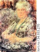 Boznanska Olga - Portrait of Francis Thomasson - Polish School -. Редакционное фото, фотограф Artepics / age Fotostock / Фотобанк Лори