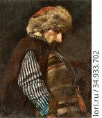 Romer Edward Mateusz - the Peasant with the Fur Cap - Polish School -. Редакционное фото, фотограф Artepics / age Fotostock / Фотобанк Лори