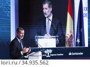 King Felipe VI of Spain attends Opening of the 23rd National Congress... Редакционное фото, фотограф Manuel Cedron / age Fotostock / Фотобанк Лори