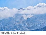 View of the top of Mount Fisht from the top of Mount Oshten, Caucasus, Russia. Стоковое фото, фотограф Евгений Харитонов / Фотобанк Лори
