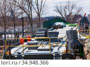 Frances Appleton bridge construction in Boston (2018 год). Стоковое фото, фотограф Сергей Новиков / Фотобанк Лори