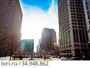 Cadillac Square Park in Detroit, Michigan, USA (2018 год). Стоковое фото, фотограф Сергей Новиков / Фотобанк Лори