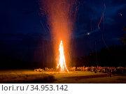 Bonfire,summer solstice,midsummer. Стоковое фото, фотограф ROHA-Fotothek Frman / easy Fotostock / Фотобанк Лори