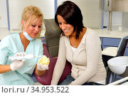 Dentist visit,prophylaxe,dentist,tooth cleaning. Стоковое фото, фотограф Alexander Bernhard / easy Fotostock / Фотобанк Лори