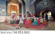 Zommer Richard Karlovich - at Prayer - Russian School - 19th Century. Стоковое фото, фотограф Artepics / age Fotostock / Фотобанк Лори