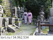 Eiken-do Temple, along Philosopher's Path, Kyoto, Japan. (2019 год). Редакционное фото, фотограф Alexandra Buxbaum / age Fotostock / Фотобанк Лори