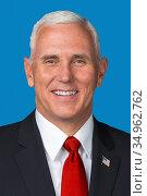 Michael Richard Pence - *07. 06. 1959 - America politician and Vice... (2018 год). Редакционное фото, фотограф Peter Probst / age Fotostock / Фотобанк Лори
