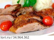 Duck meat,duck breast. Стоковое фото, фотограф monica-photo / easy Fotostock / Фотобанк Лори