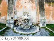 Fountain in the gardens of Santi Bonifacio ed Alessio basilica an... Стоковое фото, фотограф Stefano Ravera / age Fotostock / Фотобанк Лори