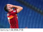 Jordan Veretout (Roma) during the Serie A Tim match between AS Roma... Редакционное фото, фотограф Federico Proietti / Sync / AGF/Federico Proietti / / age Fotostock / Фотобанк Лори