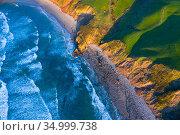 Gerra beach, Oyambre Natural Park, San Vicente de la Barquera, Cantabrian Sea, Cantabria, Spain. Стоковое фото, фотограф Juan Carlos Munoz / Nature Picture Library / Фотобанк Лори