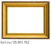 beautiful rectangular frame for a mirror on isolated background. Стоковое фото, фотограф Татьяна Яцевич / Фотобанк Лори