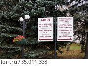Указатель на Троекуровском кладбище. Стоковое фото, фотограф Victoria Demidova / Фотобанк Лори