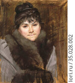 Bashkirtseff Marie - Portrait of Madame X - Russian School - 19th... Стоковое фото, фотограф Artepics / age Fotostock / Фотобанк Лори