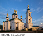 Feodorovskaya Church of the Epiphany Monastery in Uglich (2019 год). Стоковое фото, фотограф Юлия Бабкина / Фотобанк Лори