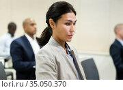 portrait of asian female businessman in meet room. Стоковое фото, фотограф Яков Филимонов / Фотобанк Лори