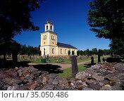 Valö Church, Östhammar Municipality, Uppland. Sweden. Стоковое фото, фотограф Andre Maslennikov / age Fotostock / Фотобанк Лори