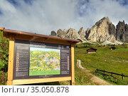 Puez Odle Natural Park. Dolomites. Italy. Puez Geisler Nature Reserve. Стоковое фото, фотограф Marco Brivio / age Fotostock / Фотобанк Лори