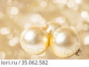 Christmas decorations on abstract background. Стоковое фото, фотограф Юлия Бабкина / Фотобанк Лори