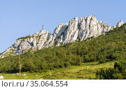Mt. Kampenwand in the Chiemgau Alps in upper bavaria. Europe, Germany... Стоковое фото, фотограф Martin Zwick / age Fotostock / Фотобанк Лори