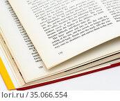 Страница раскрытой книги на английском языке. Стоковое фото, фотограф Игорь Низов / Фотобанк Лори