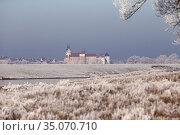 Graditz, Germany, View of Hartenfels Castle in winter (2019 год). Редакционное фото, агентство Caro Photoagency / Фотобанк Лори
