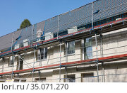 Thermal insulation, Essen, Ruhr area, North Rhine-Westphalia, Germany. Редакционное фото, агентство Caro Photoagency / Фотобанк Лори