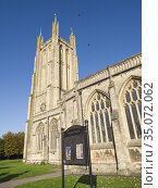 St Cuthbertâ.s Parish church in the city of Wells, Somerset, England. Стоковое фото, фотограф Craig Joiner / age Fotostock / Фотобанк Лори