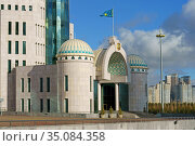 Parliament of Republic of Kazakhstan (fragment). Нур-Султан, Казахстан. Редакционное фото, фотограф Валерия Попова / Фотобанк Лори