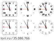 Set watch isolated on a white background. Стоковая иллюстрация, иллюстратор Сергей Антипенков / Фотобанк Лори