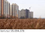 Building a new residential building. Стоковое фото, фотограф Азат Хайрутдинов / Фотобанк Лори