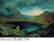 Gustav Karl Ludwig Richter - Teich im Riesengebirge. Редакционное фото, фотограф Artepics / age Fotostock / Фотобанк Лори