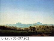 Friedrich Caspar David - Bohemian Landscape with Mount Milleschauer... Редакционное фото, фотограф Artepics / age Fotostock / Фотобанк Лори