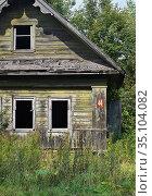 """Надпись """"Хозяин! Вернись! Мне плохо"""" на стене заброшенного дома. Стоковое фото, фотограф Dmitry29 / Фотобанк Лори"""