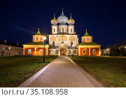 Assumption Cathedral of the Tikhvin Monastery. Стоковое фото, фотограф Юлия Бабкина / Фотобанк Лори